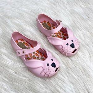 Mini Melissa Bunny Rabbit Pink Mary Jane Shoes